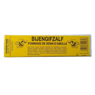 Bee venom cream ointment - Makes muscles and joints flexible, Bee venom provides energy, influences nerve functions and has a positive effect on muscles, tendons and joints.