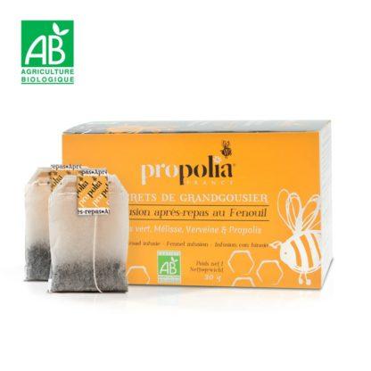 Herbal tea with propolis - tea for digestion - Lekkerhoning.nl
