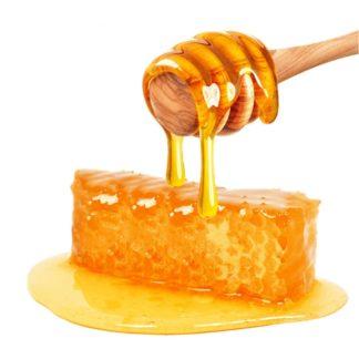 Chunk comb honey supplemented with honey - Lekkerhoning.nl