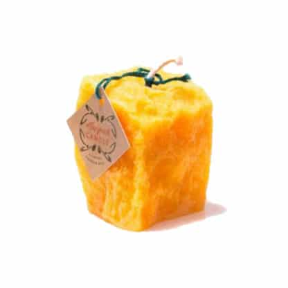 100% natural stone candle made of 100% Beeswax - Delicious honey-like scent - Lekkerhoning.nl