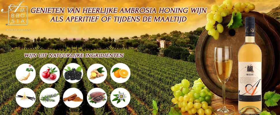 Honing-Kruidenwijn, honingwijn, Ambrosiahoningwijn, rode wijn, alcoholische dranken, aperitief