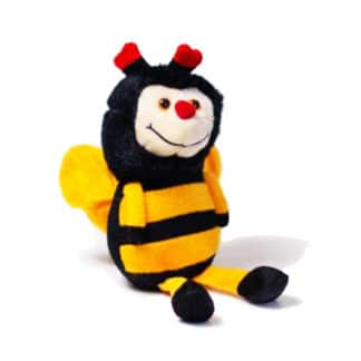 Plush bee cuddle toy 15 cm - Toys for children good quality - Lekkerhoning.nl