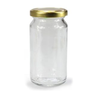 GLASS JAR LONG ROUND - 315 ml EUROPEAN QUALITY