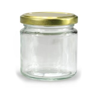 GLASS JAR ROUND - 212 ml EUROPEAN QUALITY