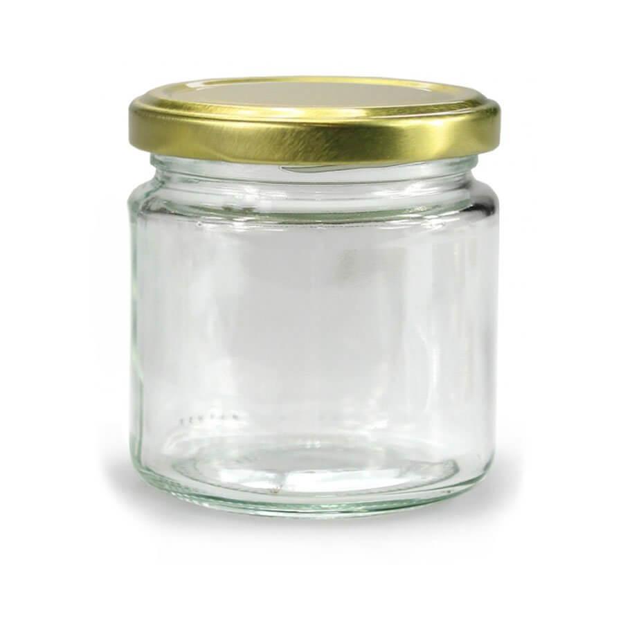 Ronde Glazen Pot.Glazen Pot Rond 212 Ml