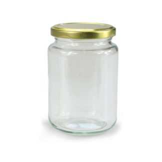 GLASS JAR ROUND - 555 ml EUROPEAN QUALITY