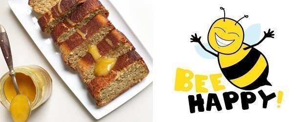 Banana bread with honey from Lekkerhoning.nl