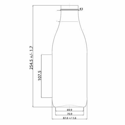 1 liter milk bottle - Lekkerhoning.nl