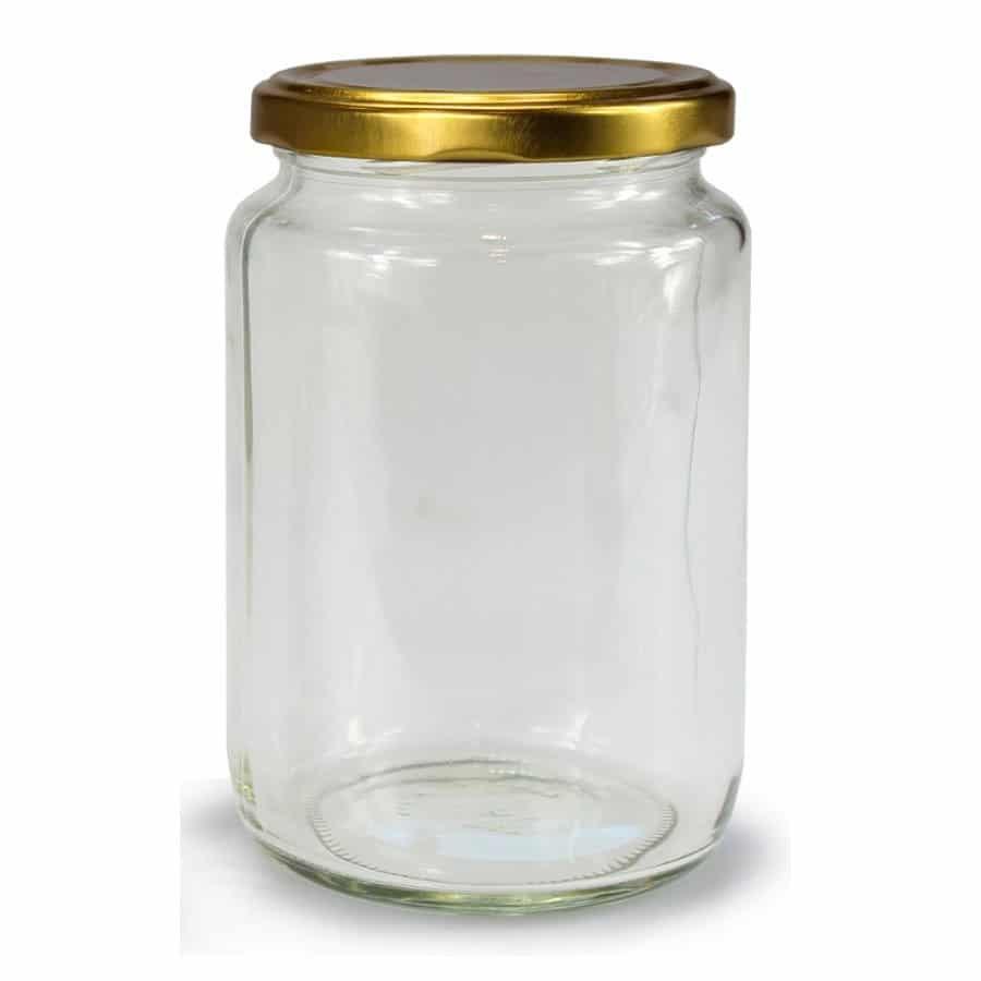 GLAZEN POT ROND - 1062 ml EUROPESE KWALITEIT