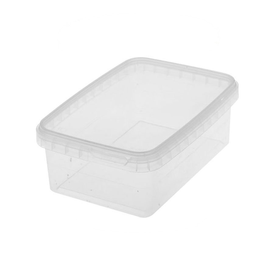 Luxe Plastic Bakje transparant klein