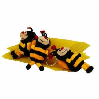 keychain with plush toy bee - Lekkerhoning.nl