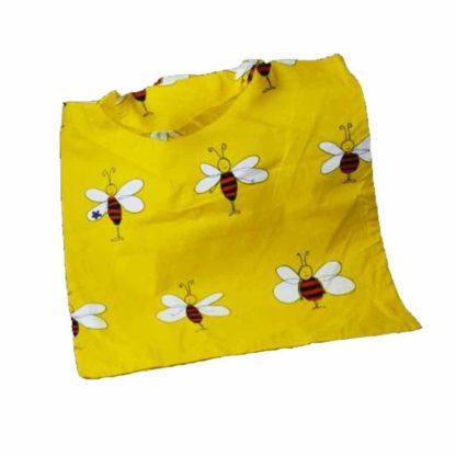 Linnen draagtas met bijen - Lekkerhoning.nl