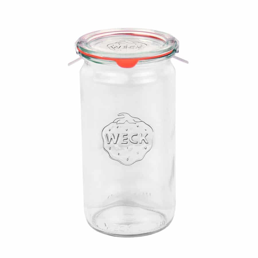 Weckpot 340ml - Inclusief glasdeksel, inmaakring en weckklemmen - kopen bij lekkerhoning.nl