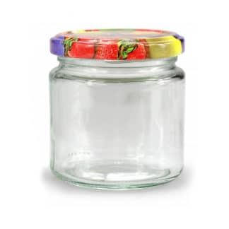 Round glass jars 212ml tray of 6 - Lekkerhoning.nl