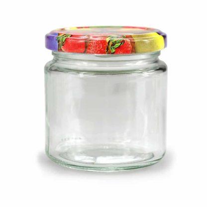 Round glass jars 212ml tray of 6 - Lekkerhoning.nl