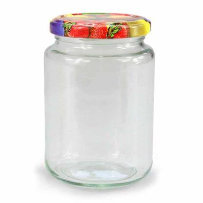 Glass jar around 375ml tray of 6 - Lekkerhoning.nl