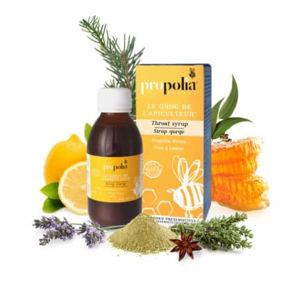 Propolis throat and cough syrup - Soothes the pain of an inflamed throat - Lekkerhoning.nl