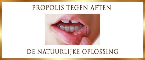Aften en ontstekingen in de mond behandelen met Propolis van de imker - Lekkerhoning.nl