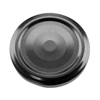 Twist off Lid 63 mm black with knob (Flip) - Lekkerhoning.nl