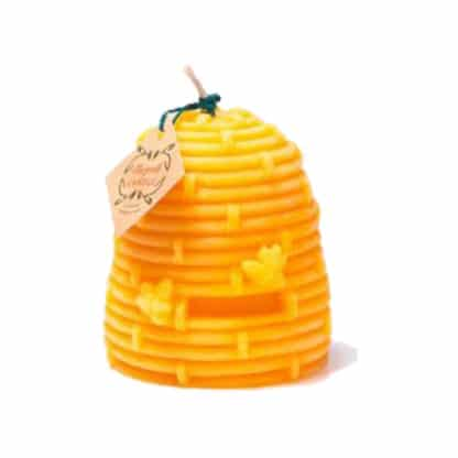 Large Beehive candle made of 100% pure natural beeswax - delicious honey-like scent - Lekkerhoning.nl