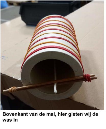 Centreer houtjes voor lont - Lekkerhoning.nl