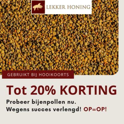Stuifmeelkorrels aanbieding Lekkerhoning.nl