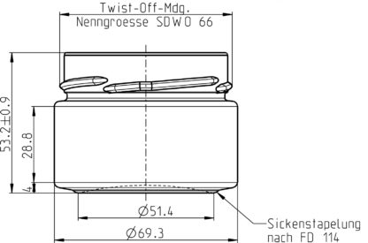 136ml technische tekening - Lekkerhoning.nl