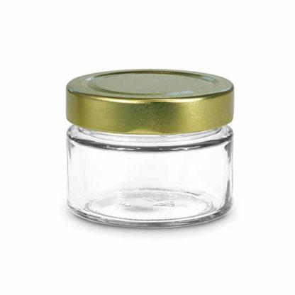 136ml premium glazen potje - Lekkerhoning.nl