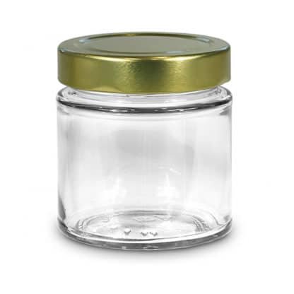212ml premium glass jar - Lekkerhoning.nl