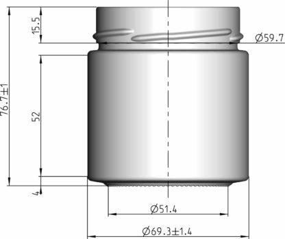 212 ml technical drawing - Lekkerhoning.nl